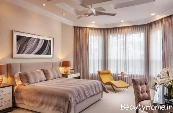 پرده زیبا برای اتاق خواب