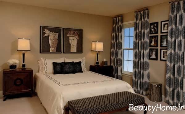 پرده طرح دار برای اتاق خواب