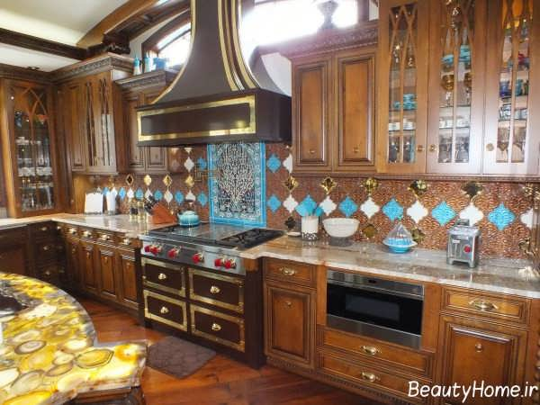 طراحی دکوراسیون آشپزخانه خاورمیانه ای