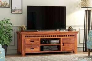 میز تلویزیون چوبی و خاص