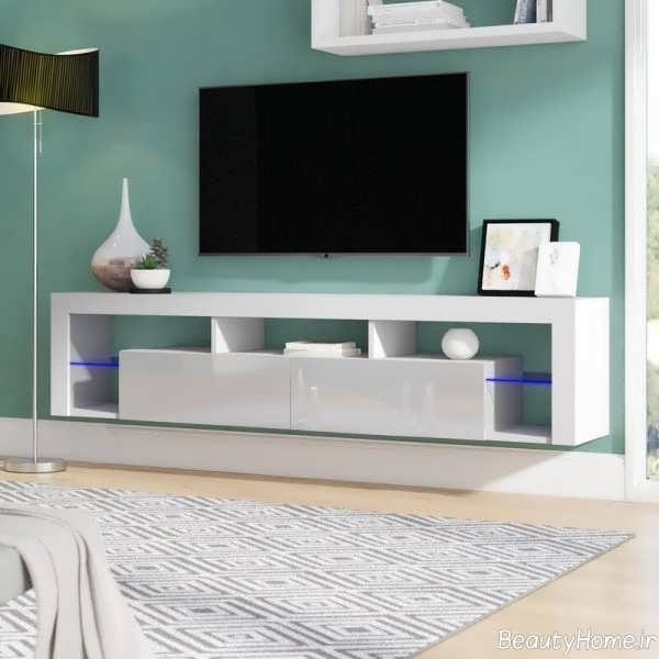 میز تلویزیون شیک و سفید