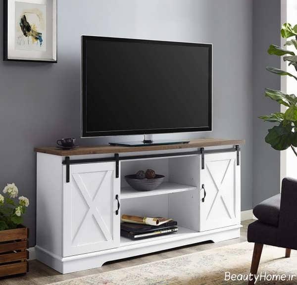 میز تلویزیون مدرن و سفید