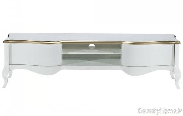 میز تلویزیون ساده و سفید