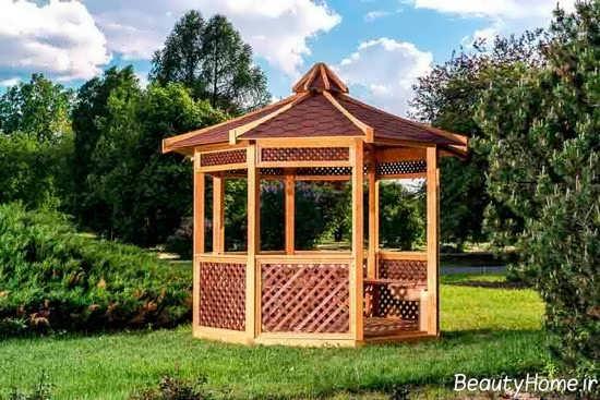 سایبان چوبی و زیبا
