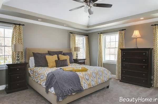 اتاق خواب زیبا و طوسی