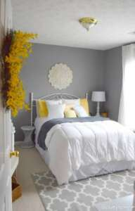اتاق خواب طوسی و زرد