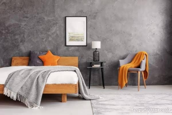 اتاق خواب طوسی و نارنجی