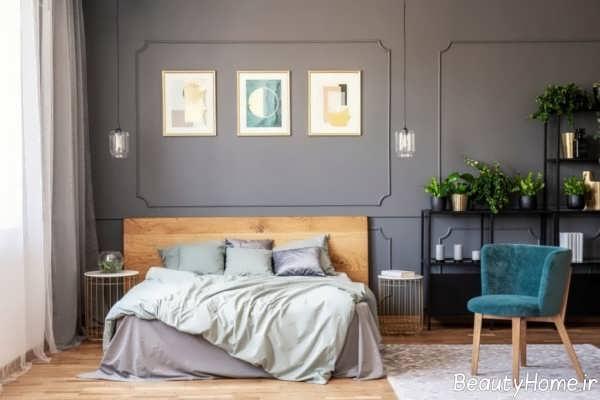 اتاق خواب طوسی و زیبا