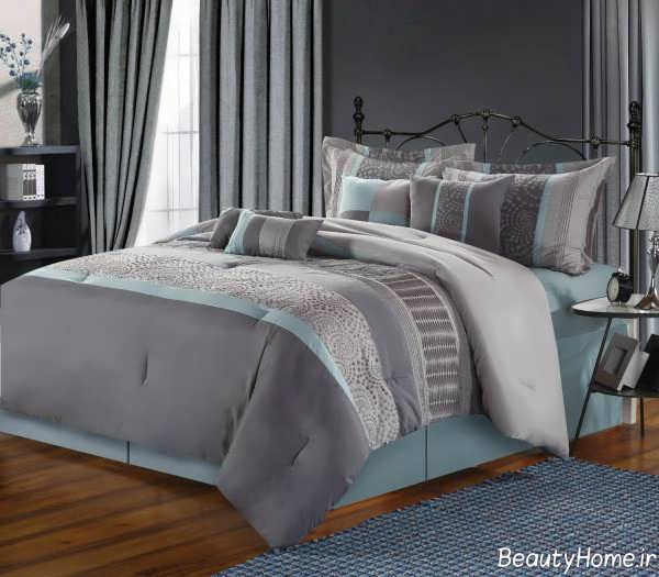 طراحی اتاق خواب طوسی و شیک