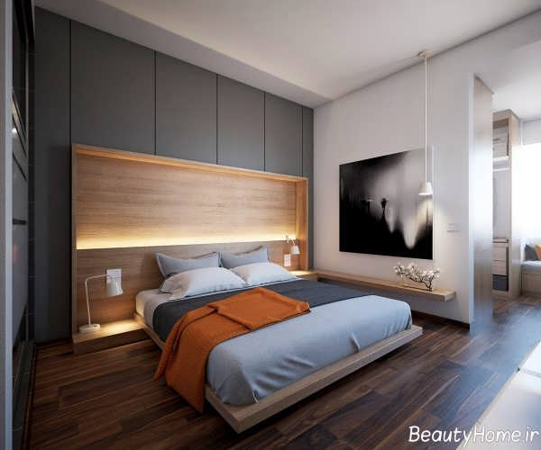 اتاق خواب طوسی و شیک