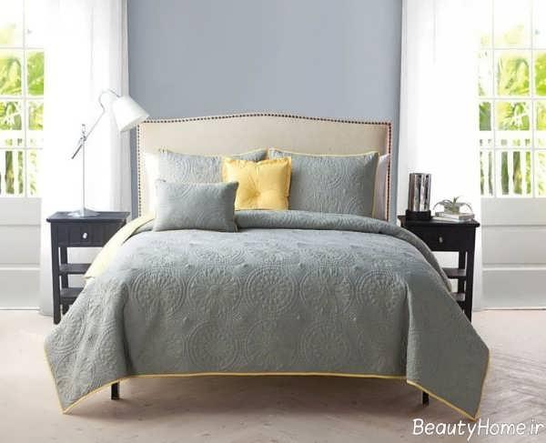 طراحی داخلی اتاق خواب طوسی