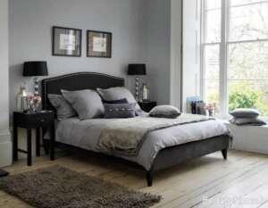 اتاق خواب طوسی و مشکی