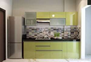 طراحی داخلی آشپزخانه فاقد پنجره