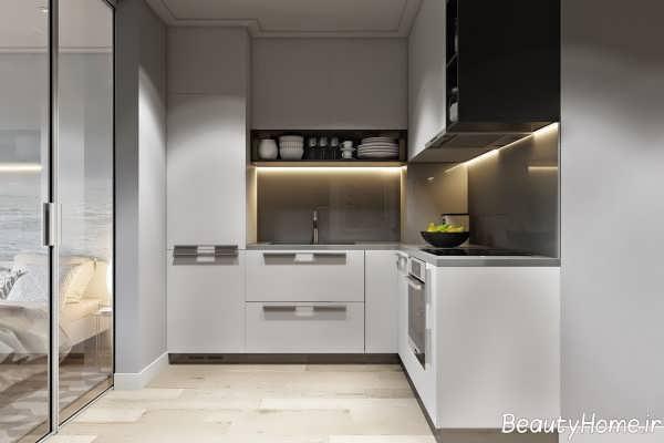 نورپردازی آشپزخانه بدون پنجره به کمک ایده های خلاقانه