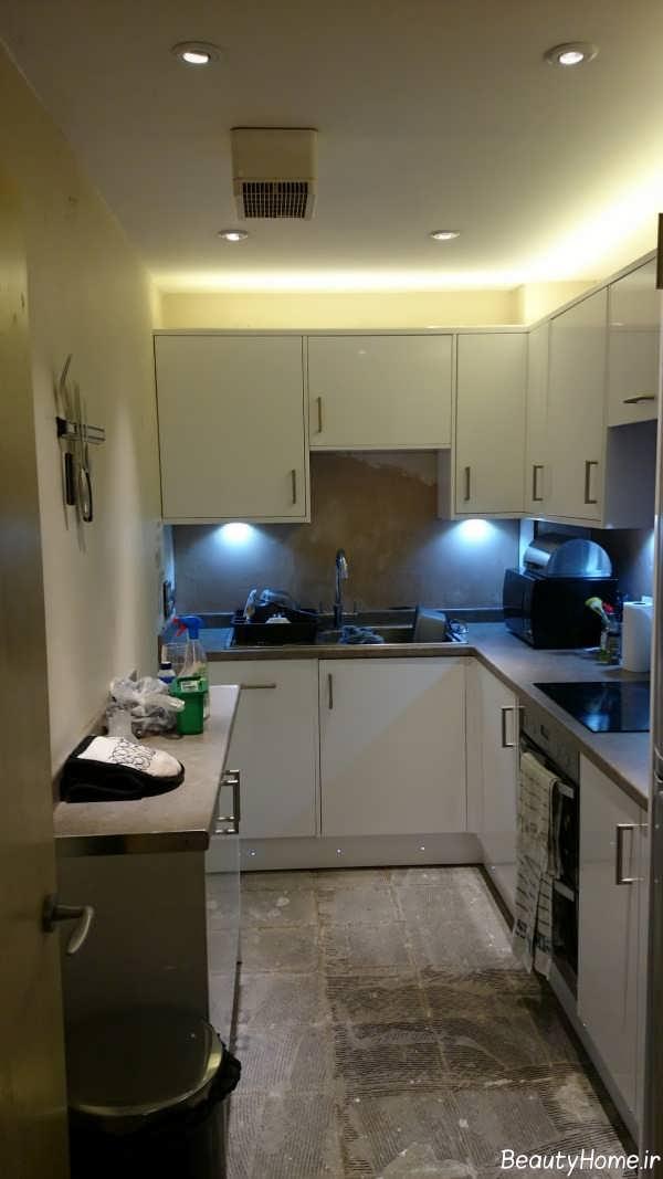 نورپردازی آشپزخانه بدون پنجره