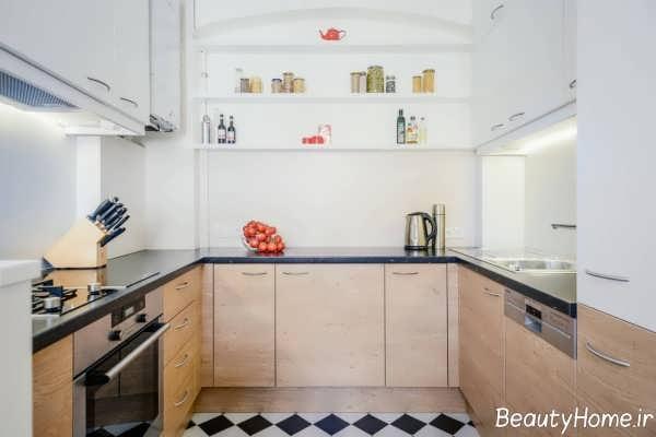 دکوراسیون ساده آشپزخانه بدون پنجره
