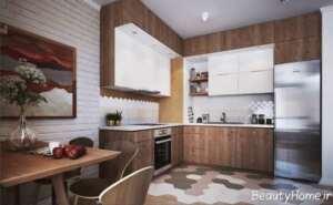 دکوراسیون آشپزخانه بدون پنجره