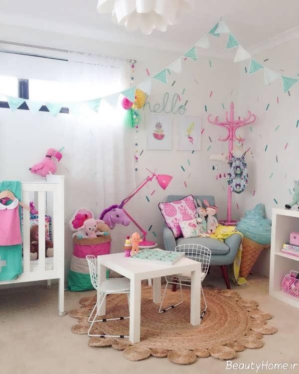 طراحی زیبا و شیک اتاق با یونیکورن