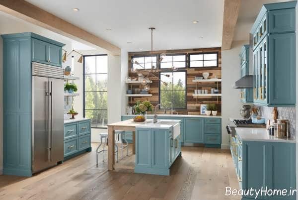 کابینت زیبا و رنگ روشن برای آشپزخانه