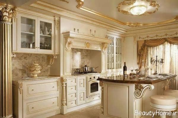 کابینت کلاسیک مخصوص آشپزخانه