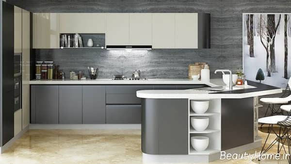 کابینت طوسی برای آشپزخانه