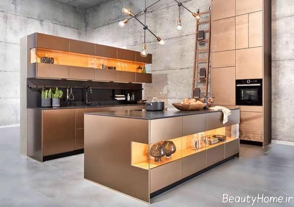 طرح کابینت آشپزخانه شیک و زیبا