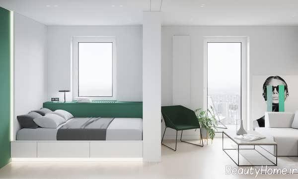 دیزاین داخلی اتاق خواب با رنگ سفید