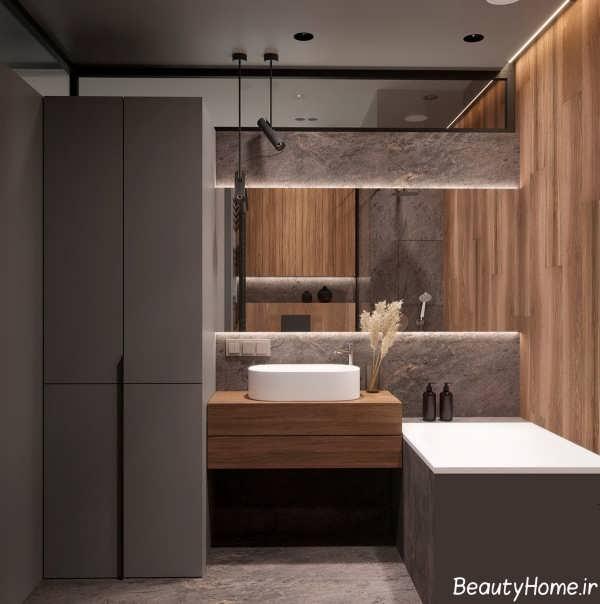 طراحی داخلی خانه کوچک با رنگ سفید و قهوه ای