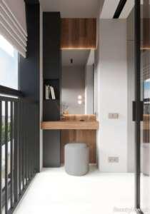 دکوراسیون زیبا و شیک خانه کوچک با رنگ سفید