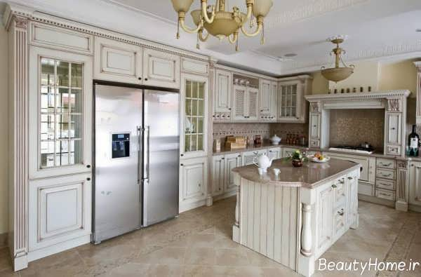 طراحی داخلی آشپزخانه ویکتوریایی