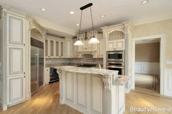 دکوراسیون آشپزخانه رنگ روشن