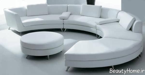 مبل سفید و زیبا