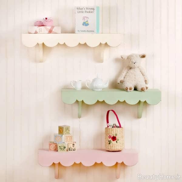 شلف دیواری شیک برای اتاق کودک