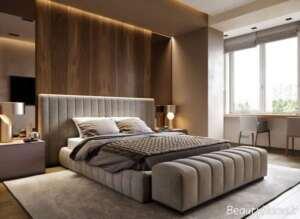 دکوراسیون اتاق خواب قهوه ای