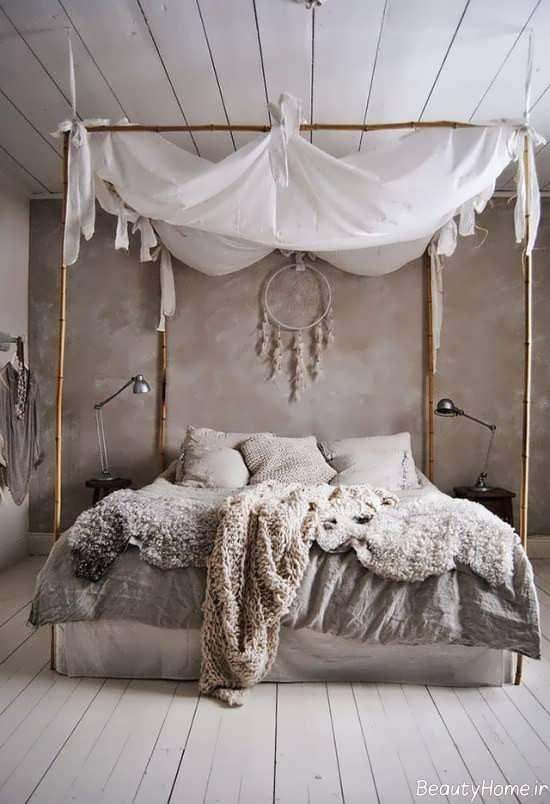 طراحی داخلی اتاق خواب به سبک بوهمیان