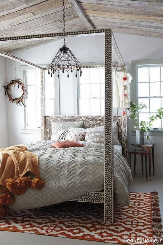 دکوراسیون اتاق خواب به سبک بوهمیان