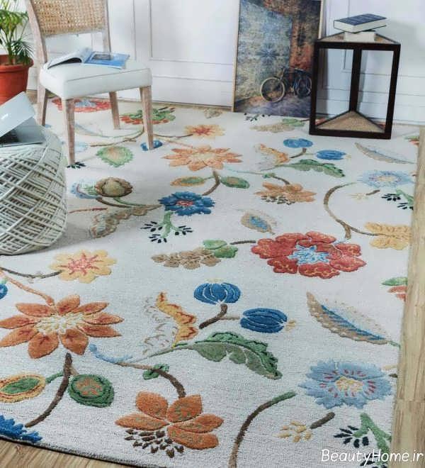 مدل فرش گلدار