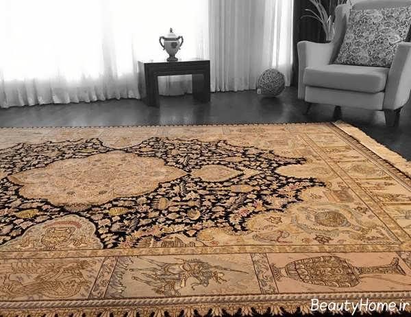 مدل فرش طرح دار