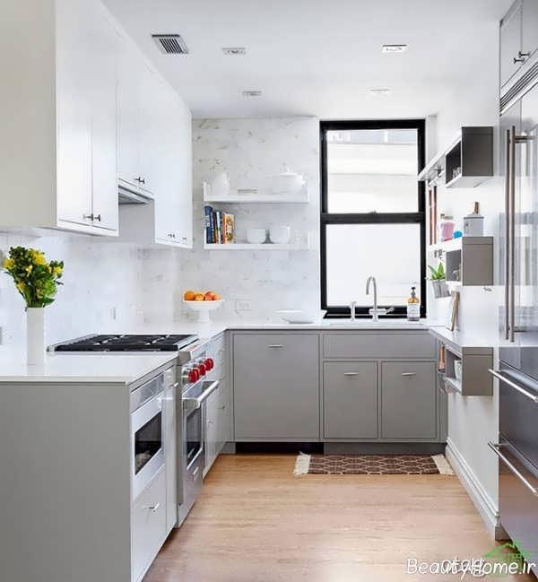 رنگ کابینت سفید برای آشپزخانه