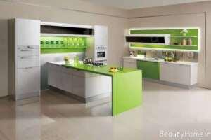 مدل کابینت سبز