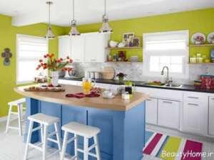 انتخاب رنگ کابینت برای آشپزخانه کوچک