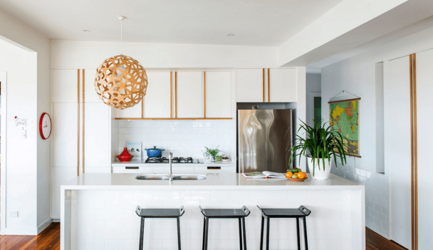 رنگ کابینت آشپزخانه کوچک