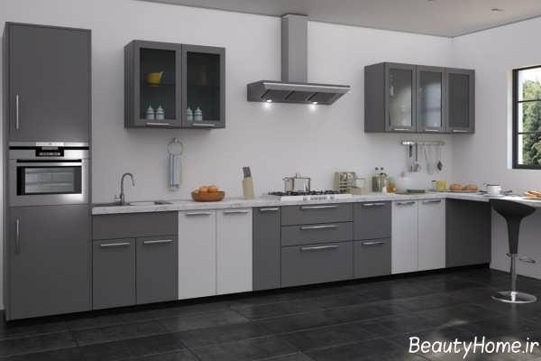 رنگ کابینت برای آشپزخانه کوچک