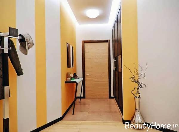 انتخاب رنگ برای دیوار راهروی ساختمان