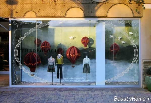 مدل تزیین جالب ویترین مغازه