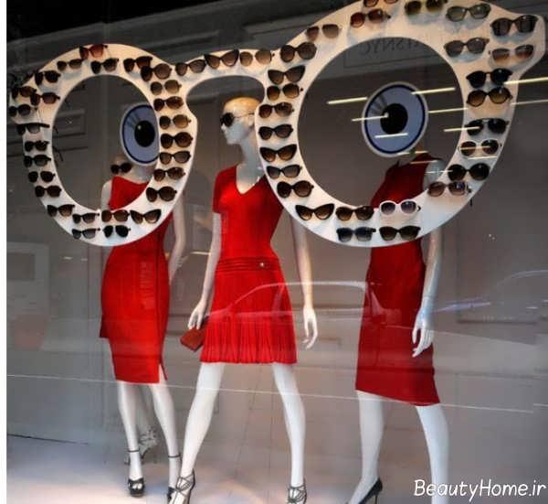تزیین ویترین مغازه عینک فروشی
