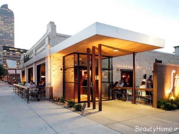 نمای زیبا رستوران
