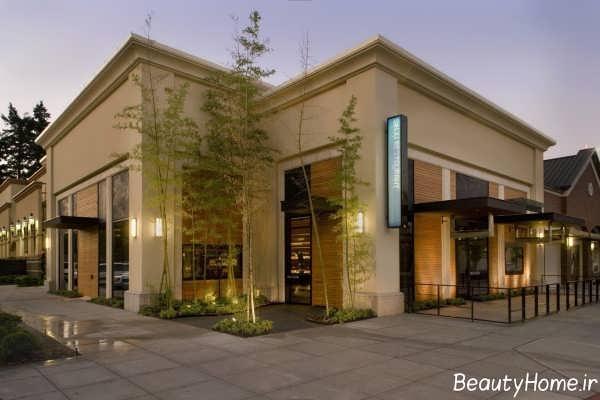 طراحی نما بیرونی رستوران
