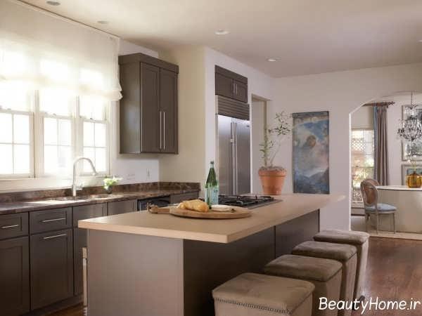 دکوراسیون آشپزخانه استخوانی رنگ