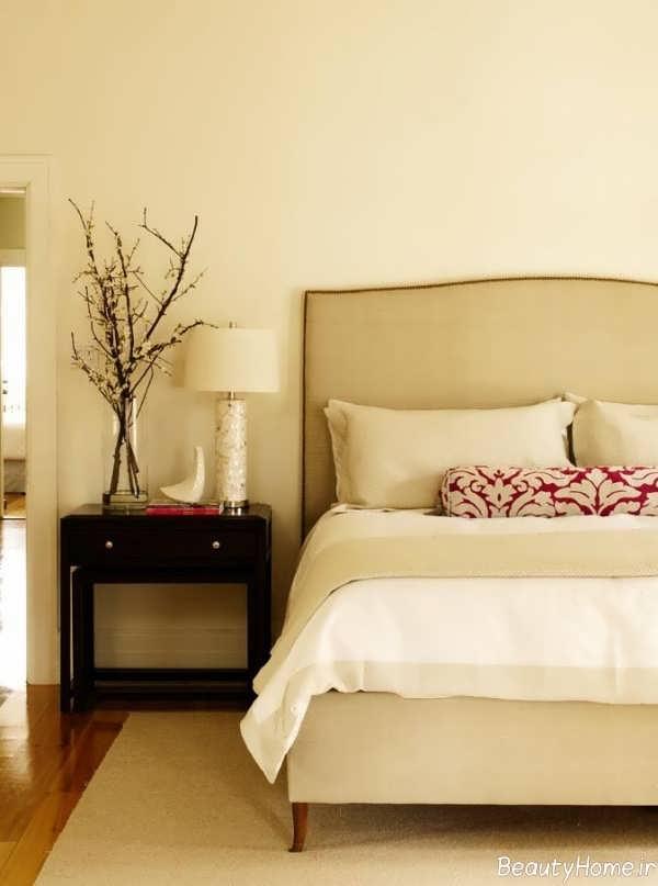 طراحی شیک اتاق خواب با رنگ استخوانی
